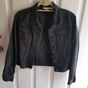 Black Denim Jacket Size 4